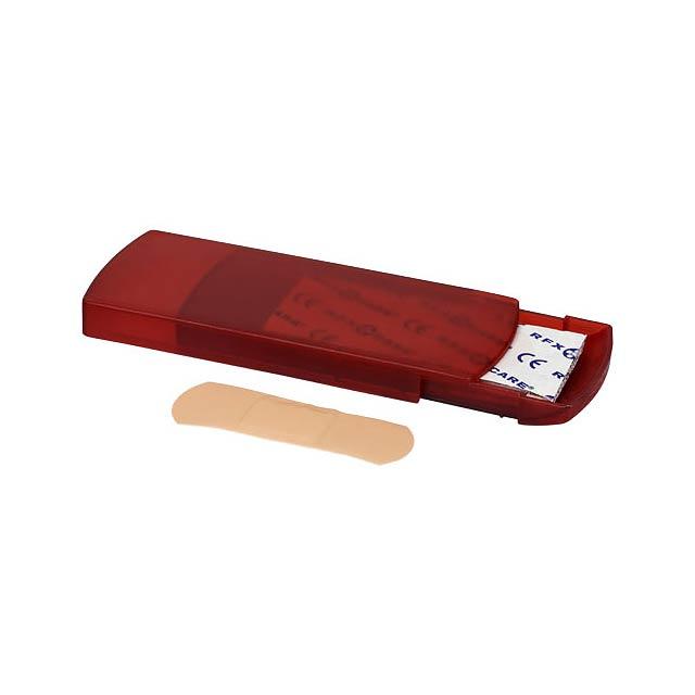 5dílná krabička s náplastmi Christian - transparentní červená