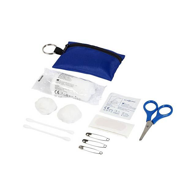 16dílný sáček první pomoci na klíčenku Valdemar - modrá