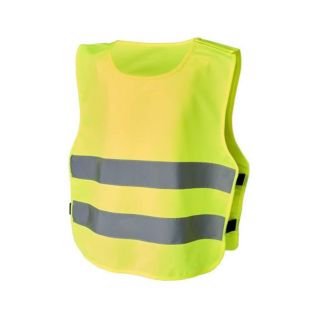 Bezpečnostní vesta Marie s háčkem a smyčkou pro děti ve věku - žlutá