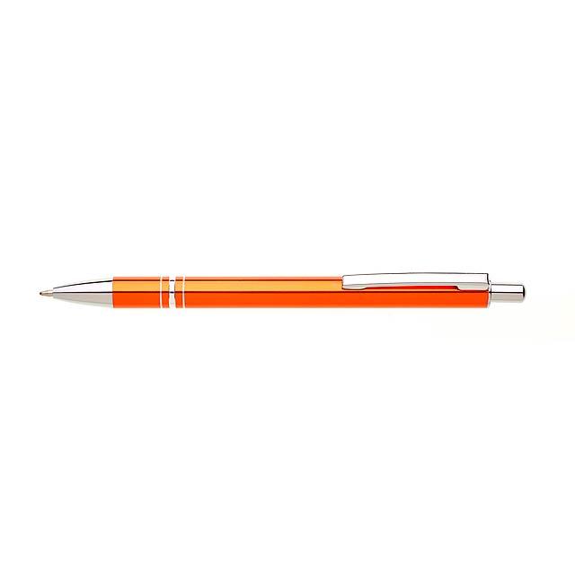 RENZA NEW kovové kuličkové pero - oranžová