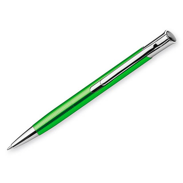 OLAF kovové kuličkové pero, modrá náplň, Světle zelená - zelená