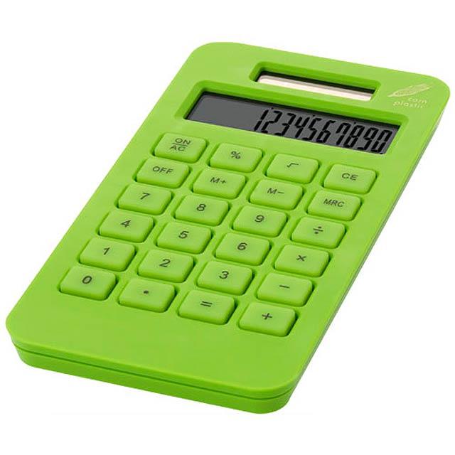 kalkulačka vrecková - zelená