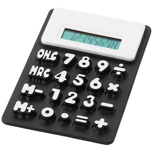 Kalkulačka zo silikónu - čierna