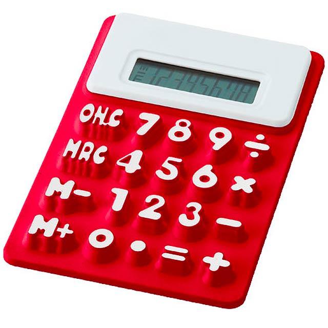 Kalkulačka zo silikónu - červená