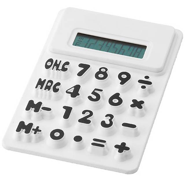 Kalkulačka zo silikónu - biela