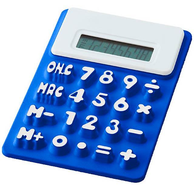 Ohebná kalkulačka Splitz - kráľovsky modrá
