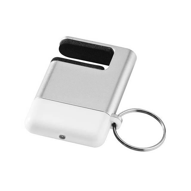 Čistítko displeje a držák telefonu Gogo - stříbrná