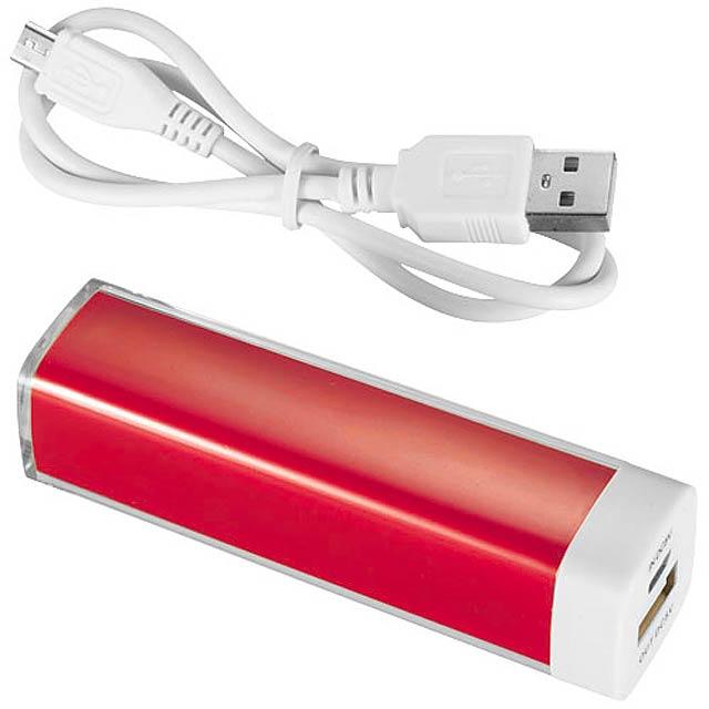 Powerbanka Flash, 2 200 mAh - červená