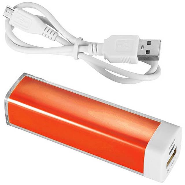 Powerbanka Flash, 2 200 mAh - oranžová