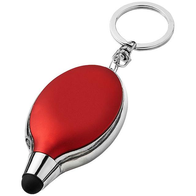 Svítilna a stylus na klíče Presto - červená