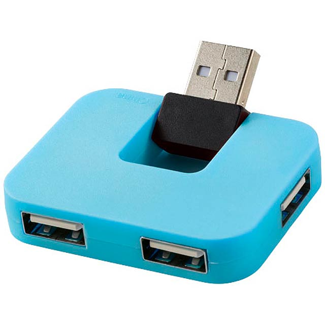 USB hub se 4 porty Gaia - modrá