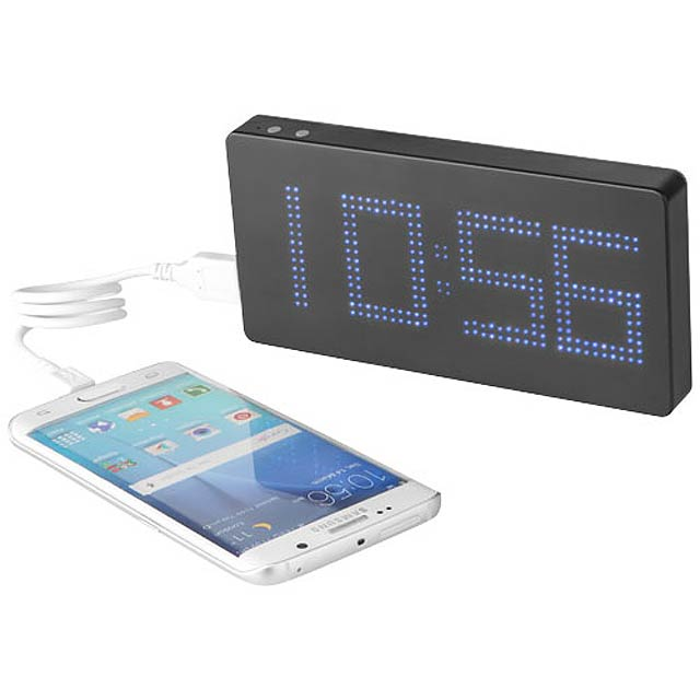 PB-8000 LED Display Powerbank with Clock - black