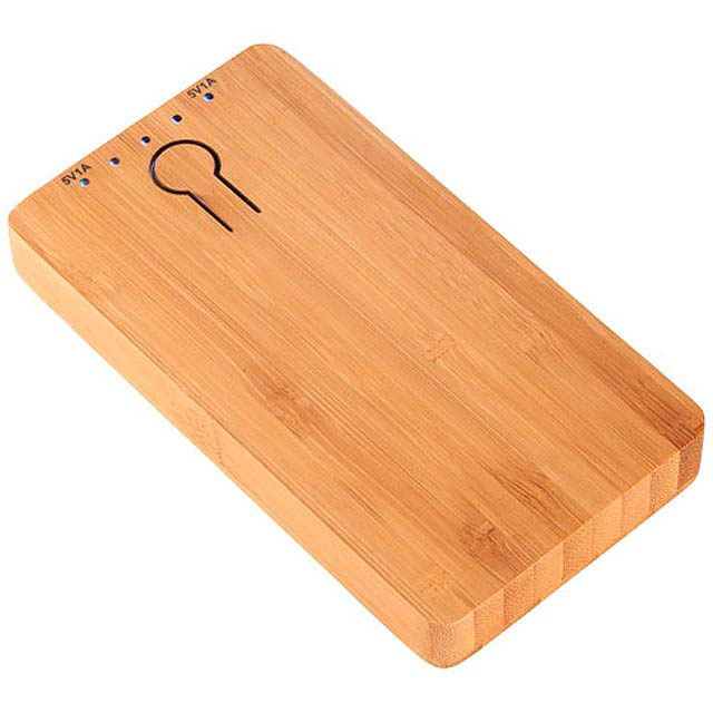 PB-5000 Bamboo Powerbank - wood