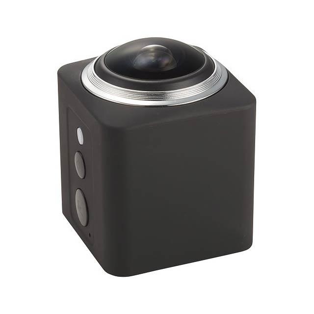 360° Wi-Fi akční kamera Surround - černá