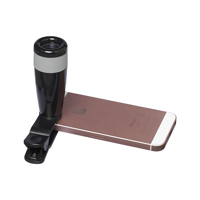 8x zoomový objektiv na chytrý telefon - černá