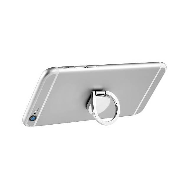 Hliníkový kruhový držák na telefon Cell - stříbrná