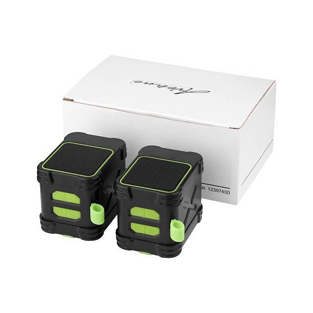 Outdoorové vodotěsné reproduktory Bond Bluetooth® - citrónová - limetková