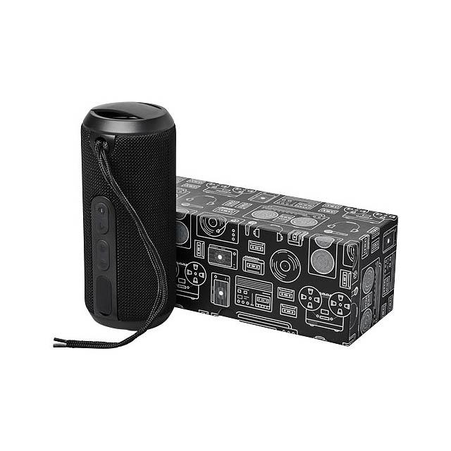 Vodotěsný reproduktor Rugged fabric Bluetooth® - černá