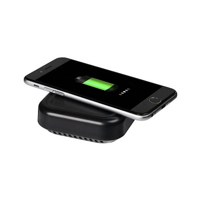 Coast Bluetooth® reproduktor s bezdrátovou nabíjecí podložko - černá
