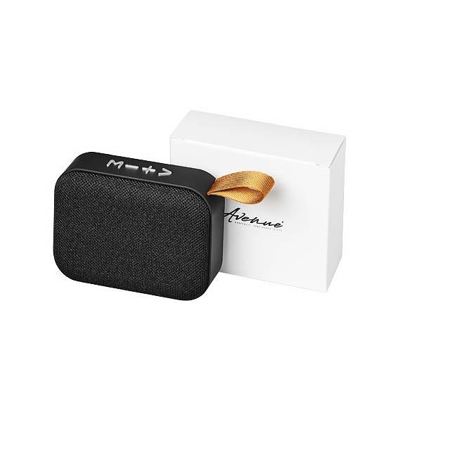 Látkový Bluetooth® reproduktor Fashion - černá