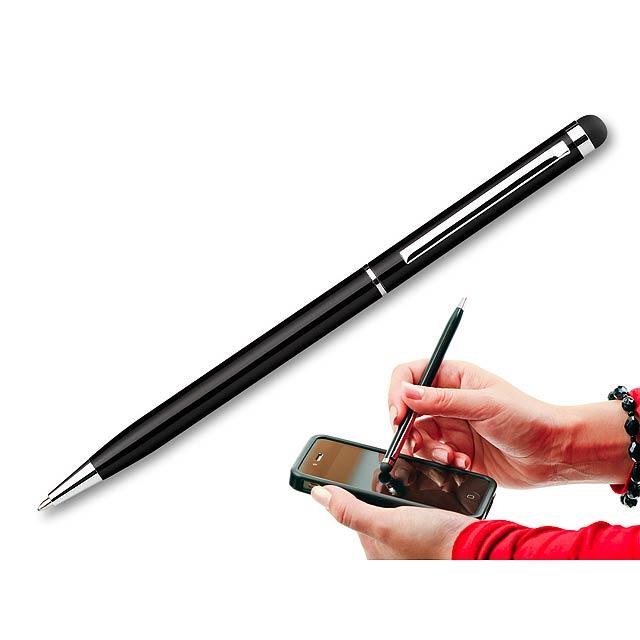 SLIM TOUCH - kovové kuličkové pero s funkcí