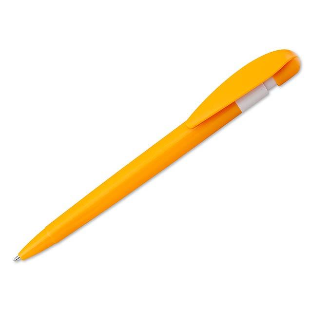 CANDIS - Kunststoffkugelschreiber mit blauschreibender Mine. - Gelb