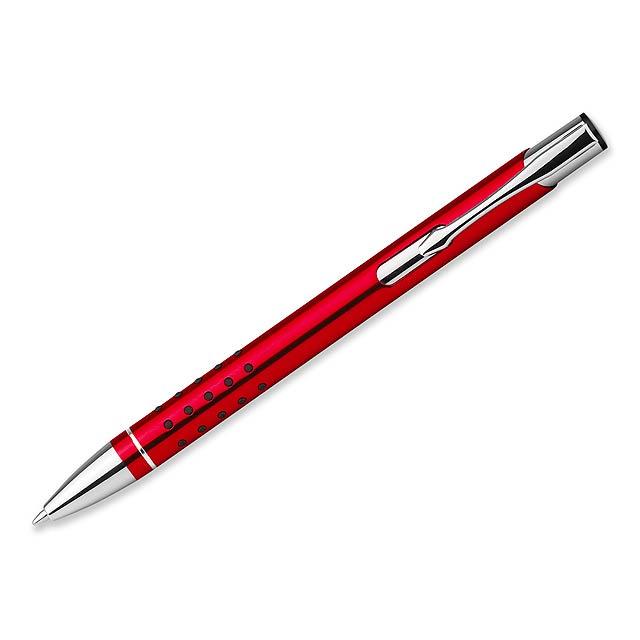 OLEG DOTS - kovové kuličkové pero, - červená