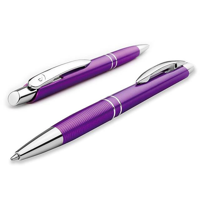 MARIETA PLASTIC plastové kuličkové pero, modrá náplň, SANTINI, Fialová - fialová