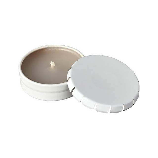 Vonná svíčka Bova v plechové krabičce - bílá
