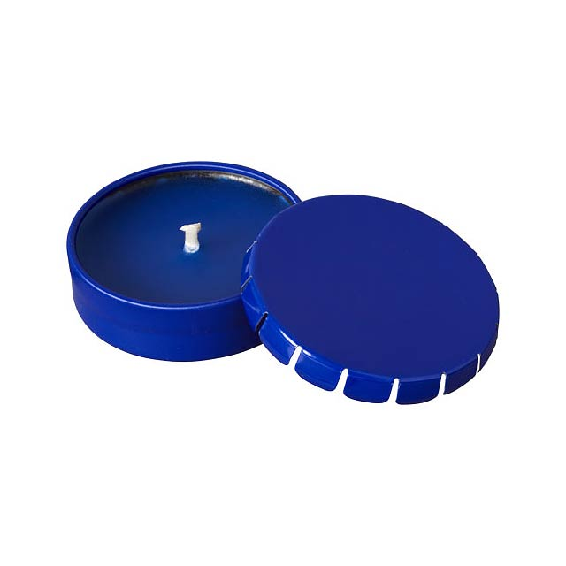 Vonná svíčka Bova v plechové krabičce - modrá