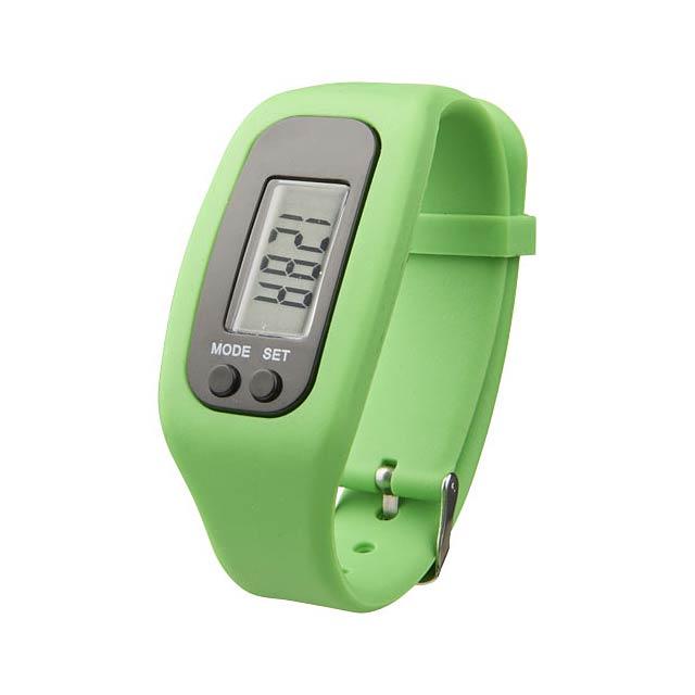 Chytré hodinky s krokoměrem Get-Fit - citrónová - limetková