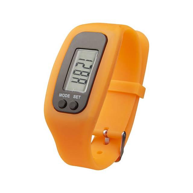 Chytré hodinky s krokoměrem Get-Fit - oranžová