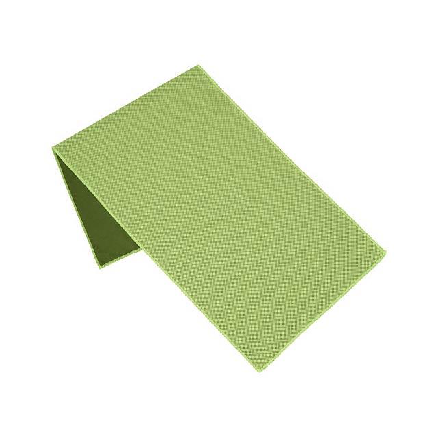 Fitness ručník Alpha - citrónová - limetková