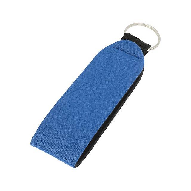 Visačka na klíče Vacay s dvojitým kroužkem - modrá