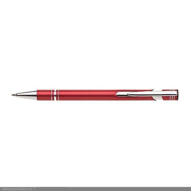 LIMET kovové kuličkové pero - červená