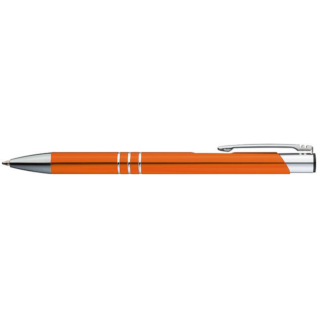 Kovové kuličkové pero - oranžová
