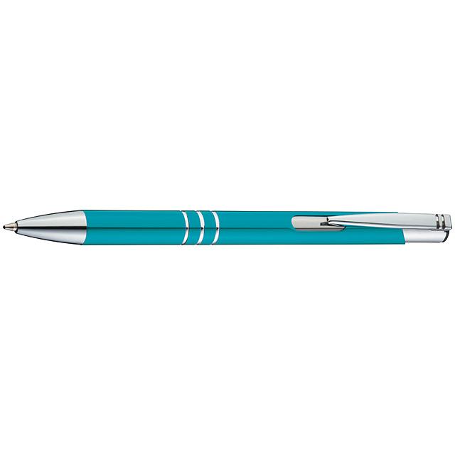 Kovové kuličkové pero - tyrkysová