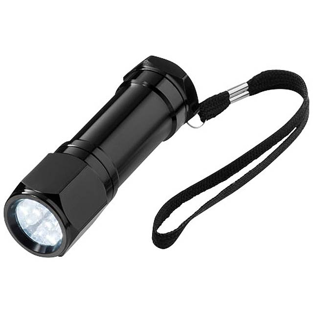 Svítilna Trug s 8 LED - černá