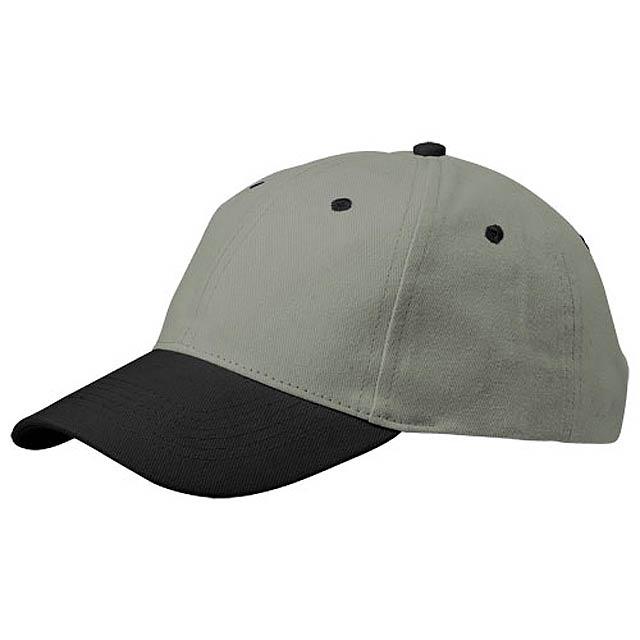 Grip 6panelová čepice - šedá