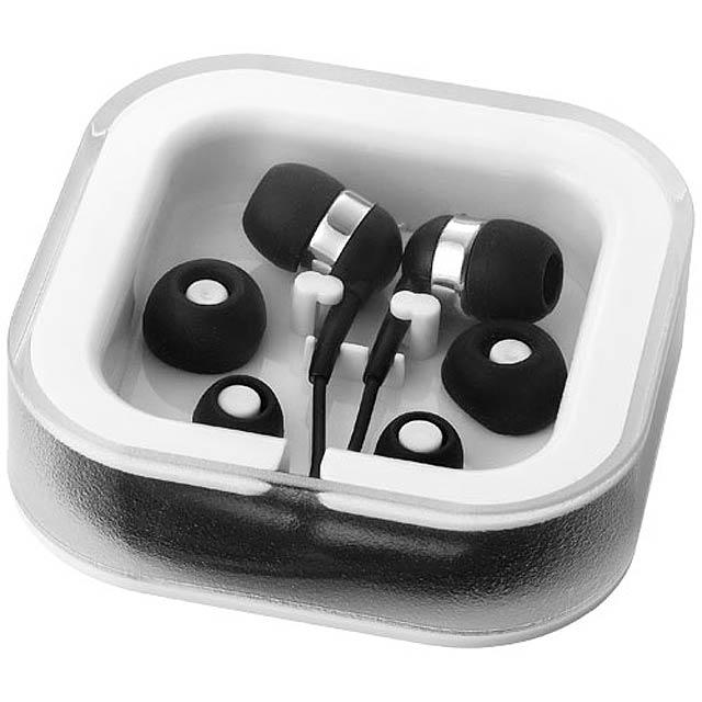 Sluchátka Sargas s mikrofonem - čierna