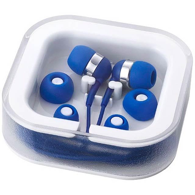 Sluchátka Sargas s mikrofonem - kráľovsky modrá