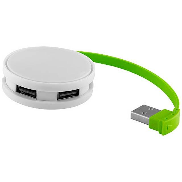 Kulatý USB Hub - bílá