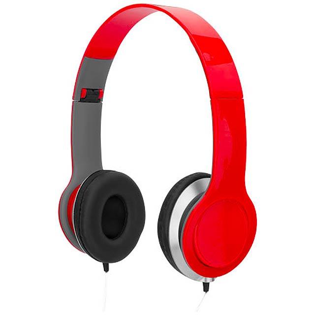 Sluchátka Cheaz - červená