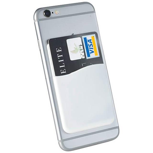 Silikonové pouzdro na kartu - bílá