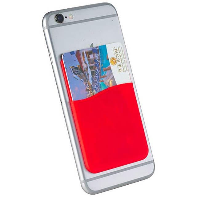 Silikonové pouzdro na kartu - červená