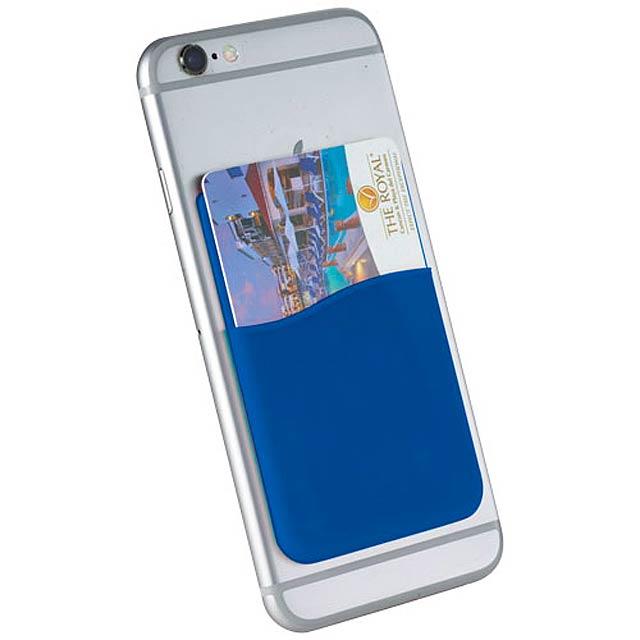 Silikonové pouzdro na kartu Slim - královsky modrá