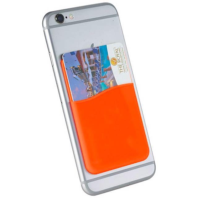 Silikonové pouzdro na kartu - oranžová