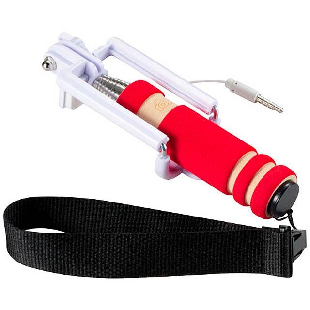 Mini Selfie držák s poutkem - červená