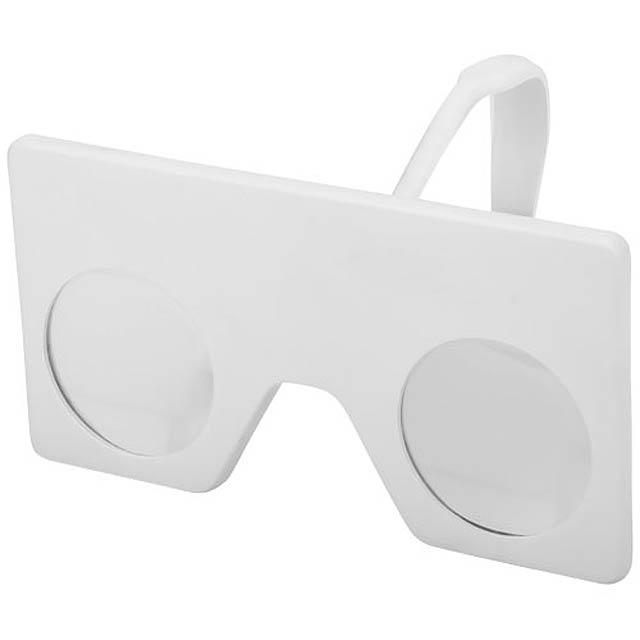 Mini virtuální brýle s klipem - bílá
