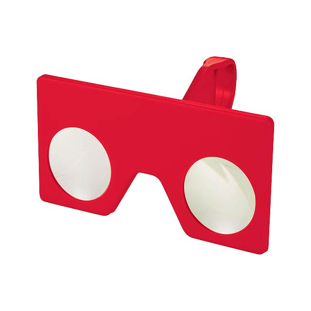 Mini virtuální brýle s klipem - transparentní červená